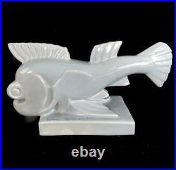 Art Deco Pottery Dolphin Fish Aj Wilkinson Ivan Golkovitch Clarice Cliff