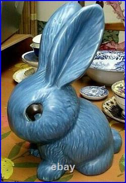Art Deco Sylvac Largest Size Blue Matt Bunny Rabbit 1028