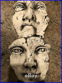 Artist Ritter CERAMiC POTTERY Hanging ART ILLUSiON 3D FACES WALL SCULPTURE
