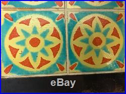 Arts & Crafts Mission Tudor Potteries Art Tile Top Rancho Monterey Side Table