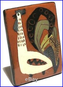Astrid Tjalk Denmark MID Century Danish Modern Studio Art Pottery Artisan Brooch