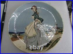 Australian Pottery Martin Boyd Hand Painted Lady Beach Plate Art Studio Ceramic