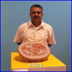 Beautiful Tonala Cat mexican burnished ceramic Great Master Jimon folk art