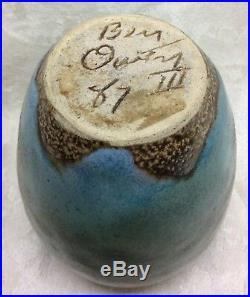 Ben Owen lll, N. C. Art Pottery, 1987, Chinese Red Egg Vase