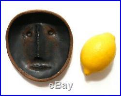Betty Feves (american 1918-85) Signed Vint Modernist Dec Stoneware Ceramic Face