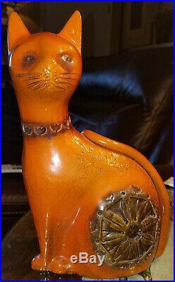 Bitossi Raymor Art Pottery Cat Sculpture Mid 20th Century Modern MCM Ceramic