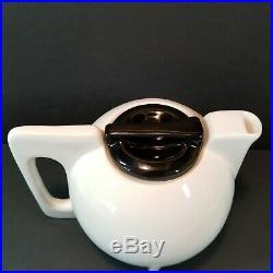 Black & White Teapot Bauhaus Art Deco Post Modern Geometric Art Pottery Ceramic