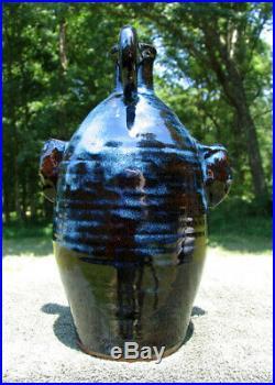 Blah Blah VAMPIRE UGLY FACE JUG folk art southern pottery ceramic nc evil