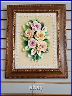 Capodimonte Floral Wall Art- Artistic Ceramics and Porcelain