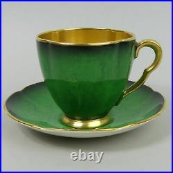 Carlton Ware Art Deco Vert Royal Pottery Coffee Set C. 1930