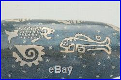 Ceramic Sculpture Whale Handmade Pottery Signed Mexican Fine Folk Art Fiscal