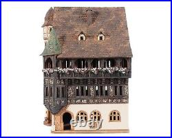 Ceramic Tealight Holder Collectible Miniature Pfister House in Colmar 29 cm