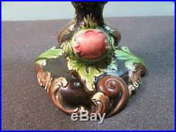 Ceramic neck Art Nouveau majolica austira JBD, Julius Dressler JBD Austrian