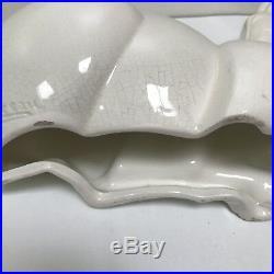 Charles Lemanceau French Art Deco Gazelle Antelope Ceramic Glaze 13.5