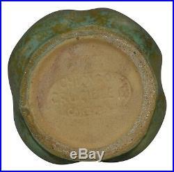 Chicago Crucible Pottery Arts and Crafts Mottled Glaze Large Leaf Ceramic Vase