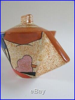 Clarice Cliff Metropolitan Museum of Art BIZARRE AUTUMN Art Deco Teapot 1993