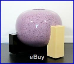 Contemporary Modern Memphis Signed Ceramic Pottery Centerpiece Vase Vessel 1980s