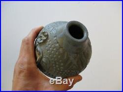 David Stewart Pottery Ceramic Vase Face Cubism Sculpture Allied Craftsman Mod