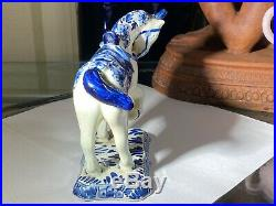 Delft Holland Unicorn Horse Figurine #809 Bihuw Hand Painted Art Pottery