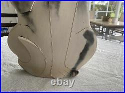 Dewey Studio ART POTTERY Large Cat by Mary Gates Dewey 1993 4 Signed Sculpture