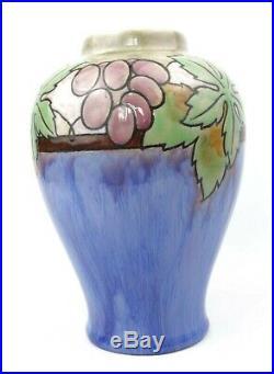 Early 20th C. Art Deco Royal Doulton Lambeth Vase Grape Vine 1920-39