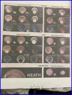 Edith Heath Moonstone Rim Serving Set for 8 Extraordinary Compete Set