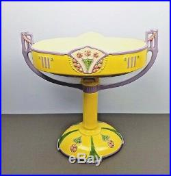 Eichwald Centerpiece Compote Czech Majolica Czechoslovakia Art Nouveau Pottery