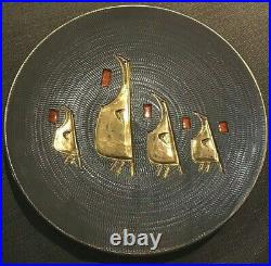 Elbee Italy 12 Fratelli Fanciullacci Wall Art Signed Numbered Gold Birds Round
