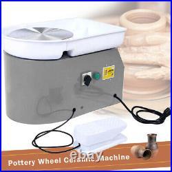 Electric 110V/25CM 350W Pottery Wheel Machine For Ceramic Work Clay Art Craft