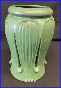 Ephraim Faience Art Pottery Green Candle Light