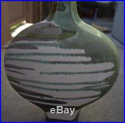 FINE-Art-Pottery-SIGNED-CREITZ-1989-Raku-Style-Large Vase