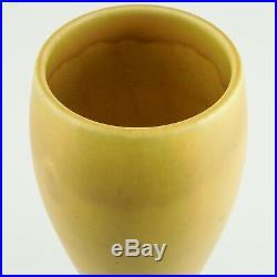 FINE Rookwood Art Pottery Vase Mustard Yellow Matte Glaze XXVI (1926) 2032E
