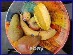 Fabulous bowl of 6 Penkridge Ceramic Fruit. (Bowl not included)