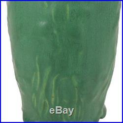 Fine 8 Antique Matte Green American Art Pottery Vase Arts & Crafts Craftsman