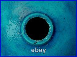 Fine French Art Deco Edmond Raoul Lachenal Ceramic Pottery Ball Vase Lamp Base