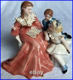 Florence Ceramics STORY BOOK HOUR withBOY figurine-MINT