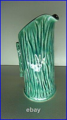 Florenz Applied Gum Nut Gumleaf Pottery Jug Australian Studio Ceramic Art