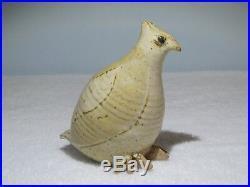 Frances Senska Original Studio Pottery- Partridge- Ceramic Bird- 1st Pose