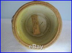 Frances Senska Original Studio Pottery- Pitcher & 9 Cups- Ceramic Carafe Bird