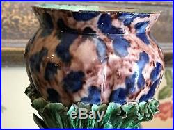 French Art Pottery 19th C Thomas Sergent Majolica Palissy Chalices Vases c1880