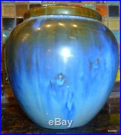 Fulper Art Pottery Blue Flambe Racetrack Oval Mark Mint Vase