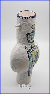 Gambone style vase. Large Size. Mid Century Modern Ceramic Brutalist Art