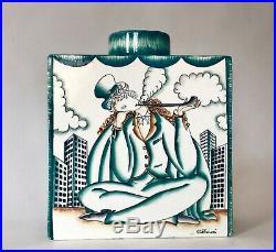 Gio Ponti'The Tired Smoker' Art Deco Ceramic Vase Richard-Ginori Pottery Italy