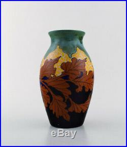 Gouda. Hand painted art nouveau vase. The Netherlands, 1920's