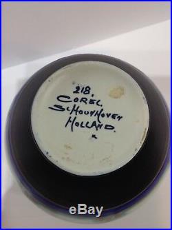 Gouda Holland Art deco Pitcher. Signed Corel Schoulhoven. Antique
