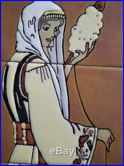 Greek Tile Art Traditional Costumes Studio Art Ceramic Decor, Women, Tsakirakis