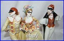 Guido Cacciapuoti Italy Pierrot Pierrette Italian Commedia Figurines Art Nouveau