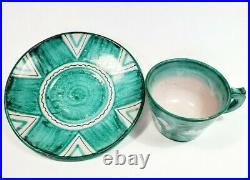 Guido Gambone Cantagalli Horse Ceramic cup saucer Italy Pottery Italia bitossi