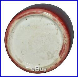 Hampshire Pottery Blood Red Arts and Crafts Ceramic Vase