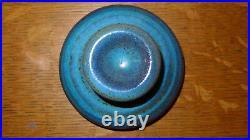 Harding Black 1964 Ceramic Lidded Urn or Vase Teal Blue Texas Studio Pottery
